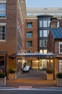 Lorien front entrance early evening