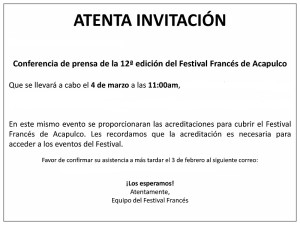 Invitación Conferencia Prensa