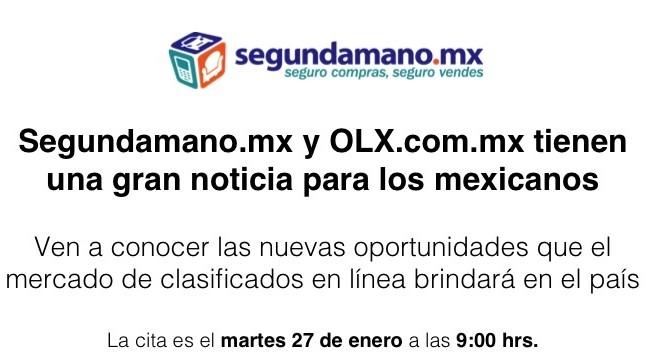 Segundamano.mx y Olx.com.mx