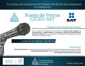 Invitación rueda de prensa CICEG y SAT en el DF