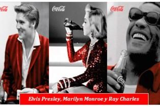 Marylin Monroe, Elvis Presley y Ray Charles unidos por Coca-Cola