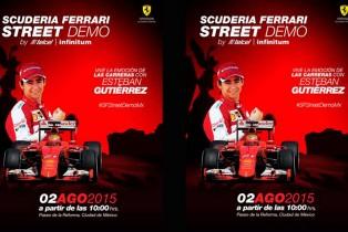 Todo listo para el Scuderia Ferrari Street Demo by Telcel – Infinitum el próximo 2 de agosto