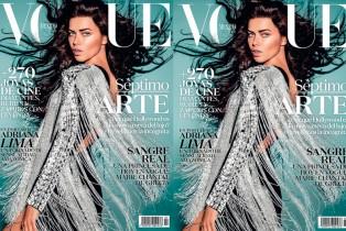 Adriana Lima en la portada de Vogue para la edición de julio 2015