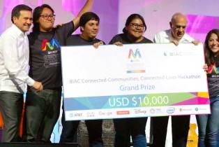 """El equipo de jóvenes """"NISI VITAE"""" ganó el Hackathon, en la Reunión Ministerial de Economía Digital"""