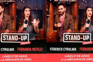 Fede Cyrulnik y Fernanda Mentilli en Stand-Up Comedy