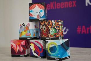 Busca pañuelos Kleenex mejorar espacios públicos con arte urbano