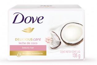 DOVE lanza una nueva barra de belleza: Dove Delicious Care Leche de Coco