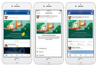 Facebook presenta animaciones divertidas para celebrar las nuevas estaciones