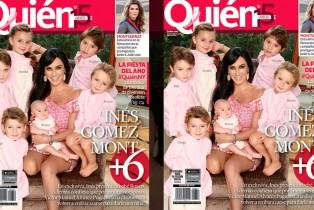Behind: Inés Gómez Mont, una mamá súper tierna con sus seis niños