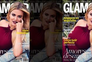 Khloé Kardashian en portada de Glamour México y Latinoamérica - Julio 2016